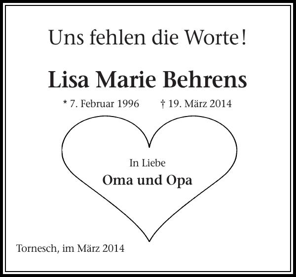 Lisa Marie Behrens Tornesch