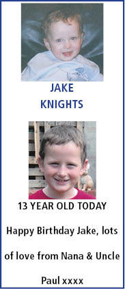 Birthday notice for JAKE