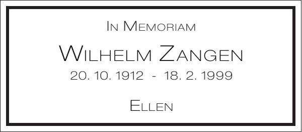 Wilhelm Zangen