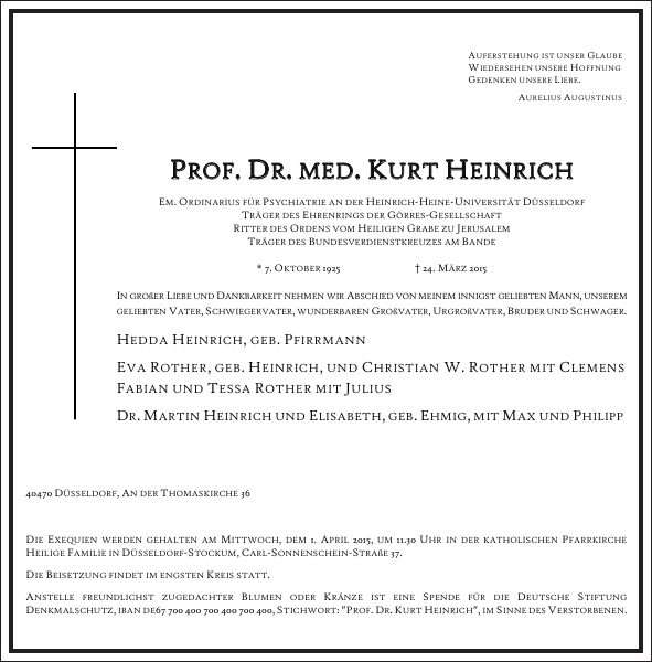 PROF DR.MED KURT HEINRICH