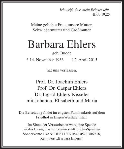 Barbara Ehlers