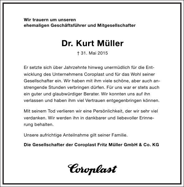 Dr. Kurt Müller