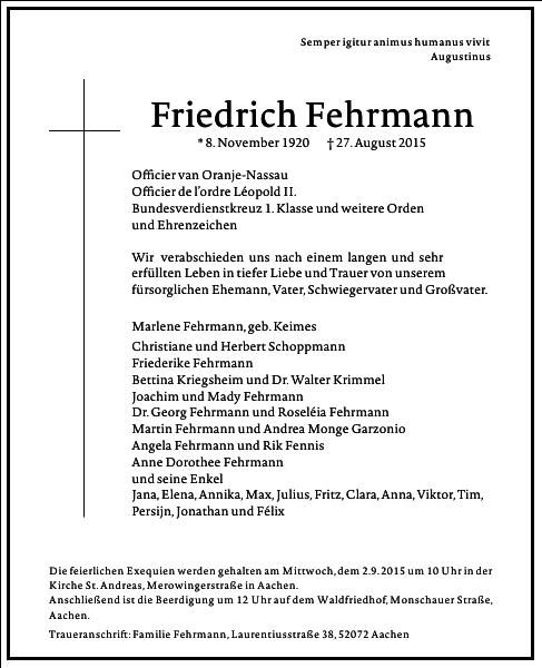 Friedrich Fehrmann