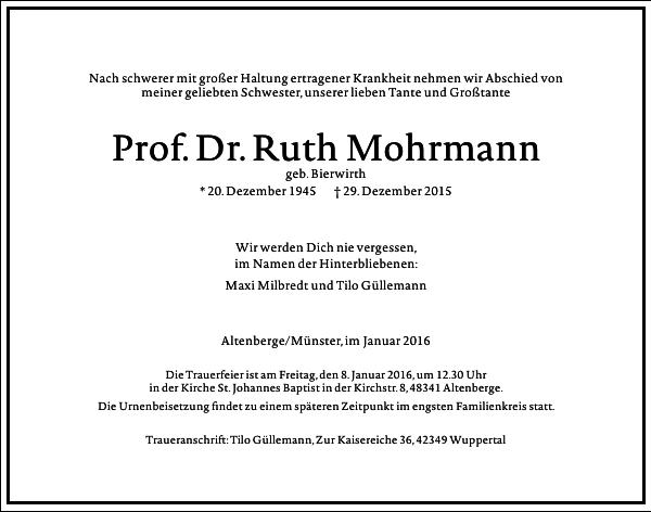 Ruth Mohrmann