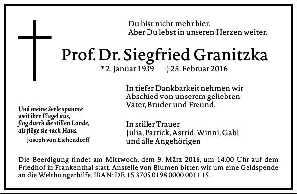Siegfried Granitzka