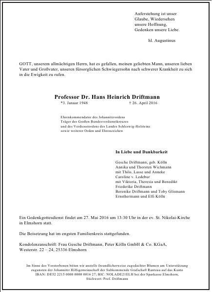 Hans Heinrich Driftmann