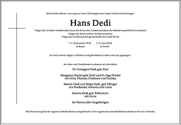 Hans Dedi
