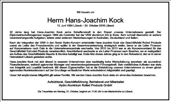 Hans-joachim Kock