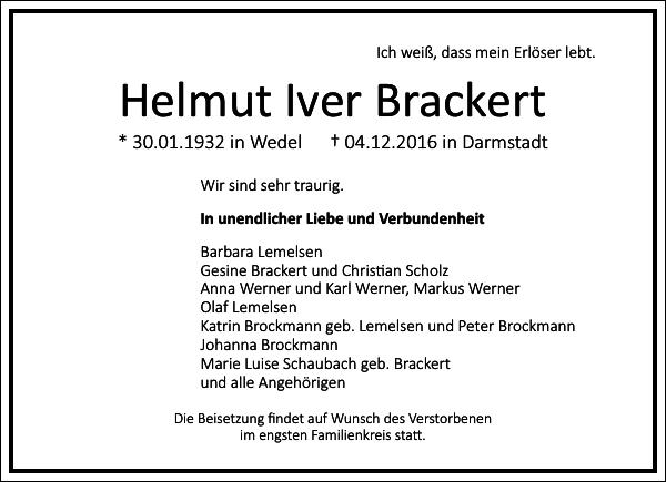 Helmut Iver Brackert