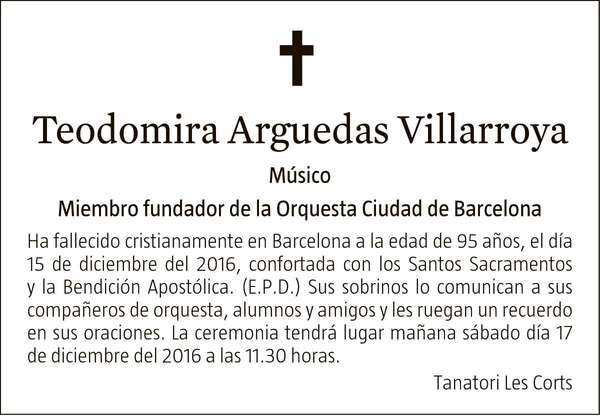 TEODOMIRA ARGUEDAS VILLARROYA