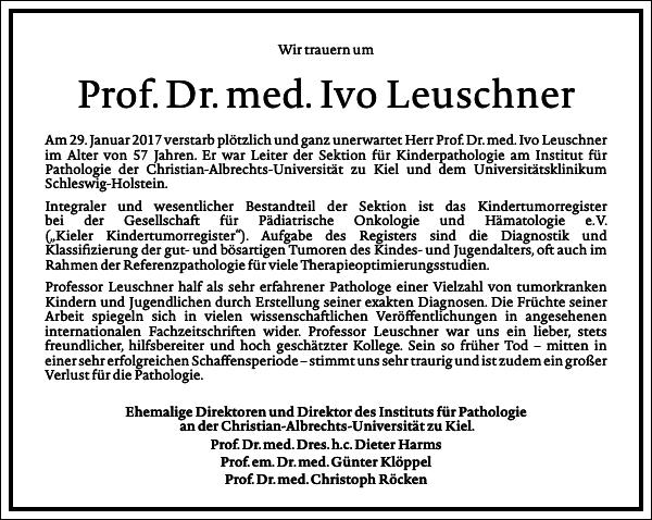 Prof.dr.med.ivo Leuschner