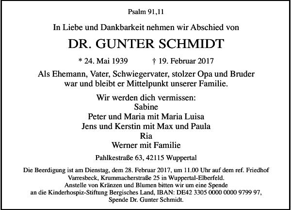 DR. GUNTER SCHMIDT