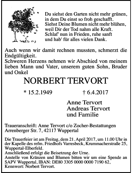 NORBERT TERVORT