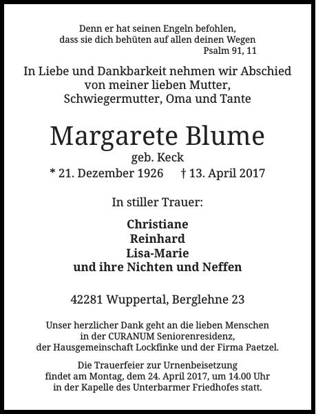 Margarete Blume
