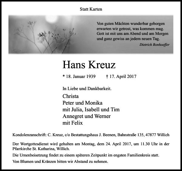 Hans Kreuz