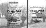 Anzeige für Wolfgang Wüst