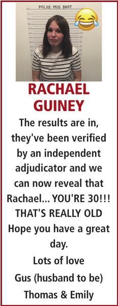 RACHAEL GUINEY : Birthday
