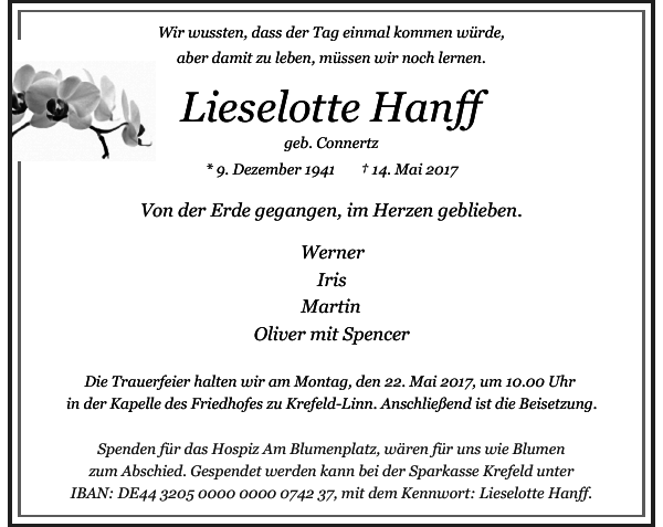 Lieselotte Hanff