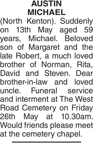 AUSTIN MICHAEL : Obituary