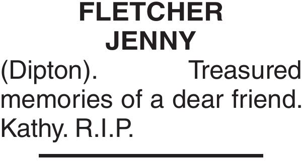FLETCHER JENNY