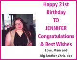 TO JENNIFER : Birthday