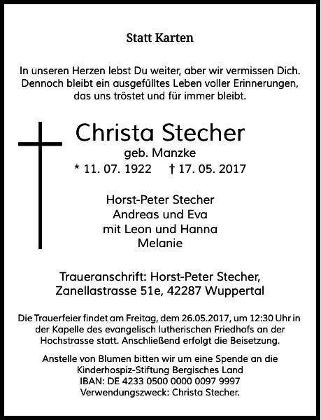 Christa Stecher