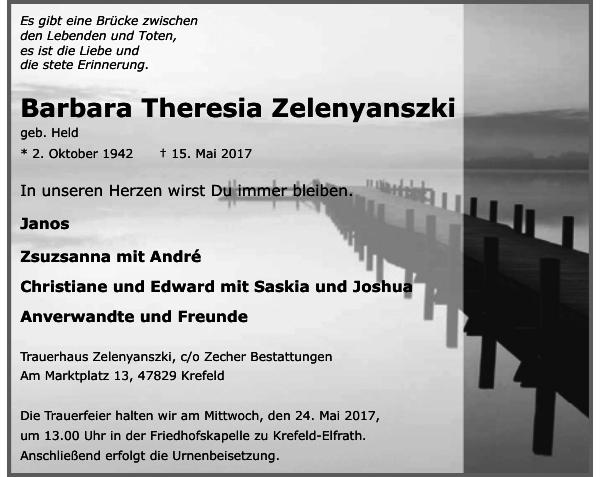 Barbara Theresia Zelenyanszki