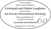 Gertraude und Günter Langhans