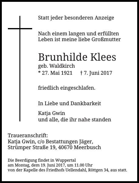 Brunhilde Klees