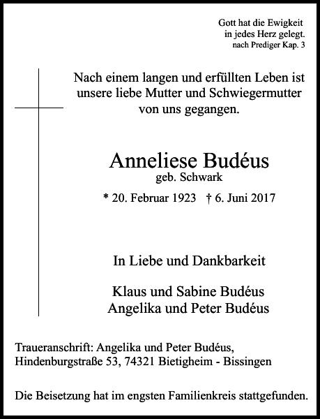 Anneliese Budéus