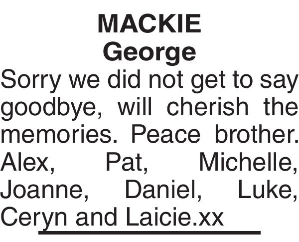MACKIE George