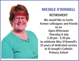 MICHELE O'DONNELL : Retirement
