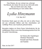 Lydia Hinzmann