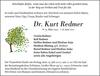 Dr. Kurt Redmer
