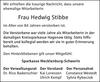 Frau Hedwig Stibbe