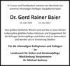 Dr. Gerd Rainer Baier