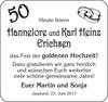 Hannelore und Karl Heinz Erichsen