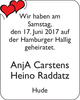 Anj A Carstens Heino Raddatz