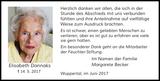 Elisabeth Dannaks : Danksagung