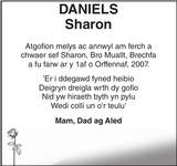 DANIELS Sharon : Memorial