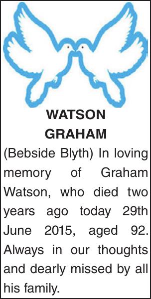 WATSON GRAHAM : Memorial