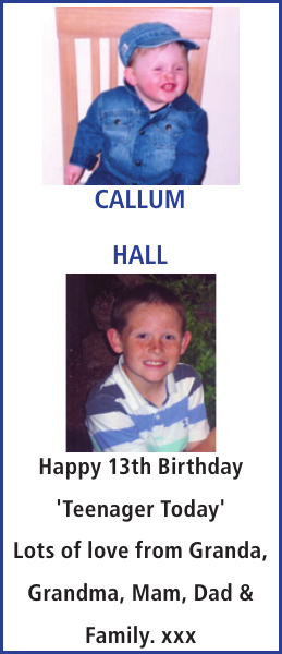 CALLUM HALL : Birthday