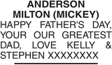 ANDERSON MILTON : Father's day