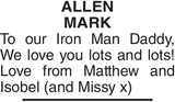 ALLEN MARK : Father's day