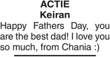 ACTIE Keiran : Father's day