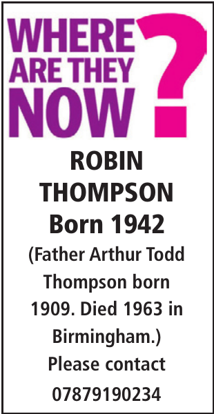 ROBIN THOMPSON : Thinking of you