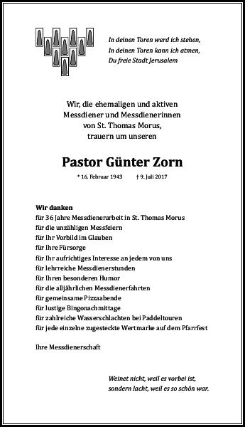 Pastor Günter Zorn