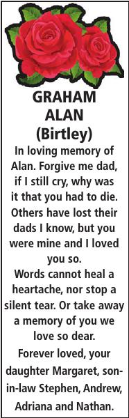 GRAHAM ALAN : Memorial