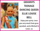 Birthday notice for GRANNYS TEENAGE