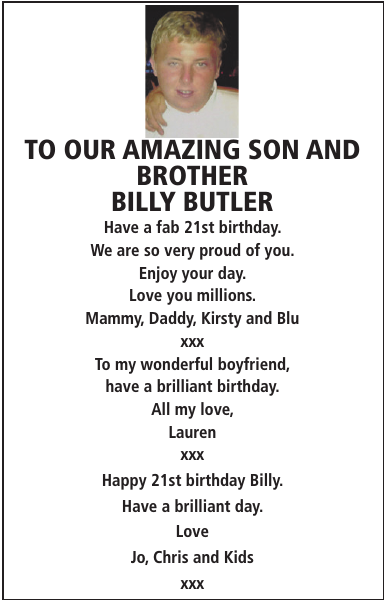 Birthday notice for TO